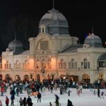 Skating on open-air ice in Budapest